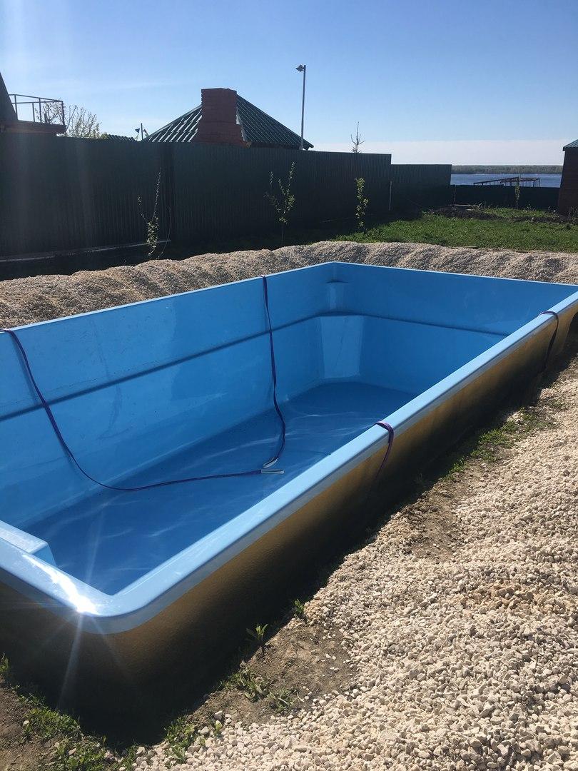 пластиковые полипропиленовые бассейны в Краснодаре, заказать бассейн из композита, монтаж чаши
