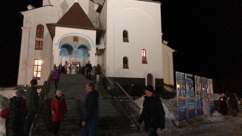 Крестный ход. Свято-Вознесенский кафедральный собор. Часы Пасхи.