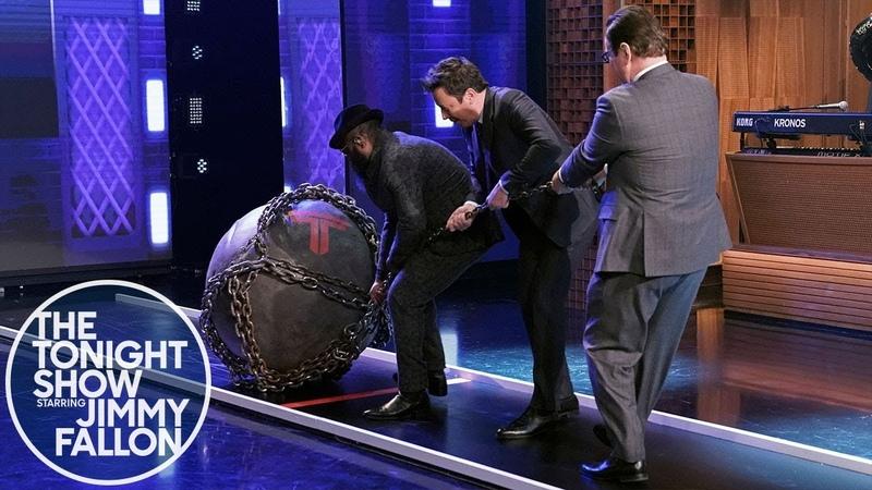 Dwayne Johnson Pushes Jimmy to Take The Titan Games Challenge