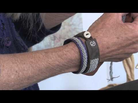 Ellen Hill Sewing Saami Bracelets .mov