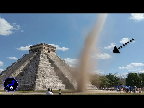 Mysterious Tornado appeared above Kukulkan Pyramids over Mexico March 22 2019
