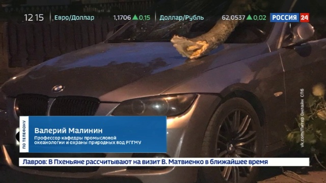 Новости на Россия 24 • Весенний ураган добрался до Санкт-Петербурга
