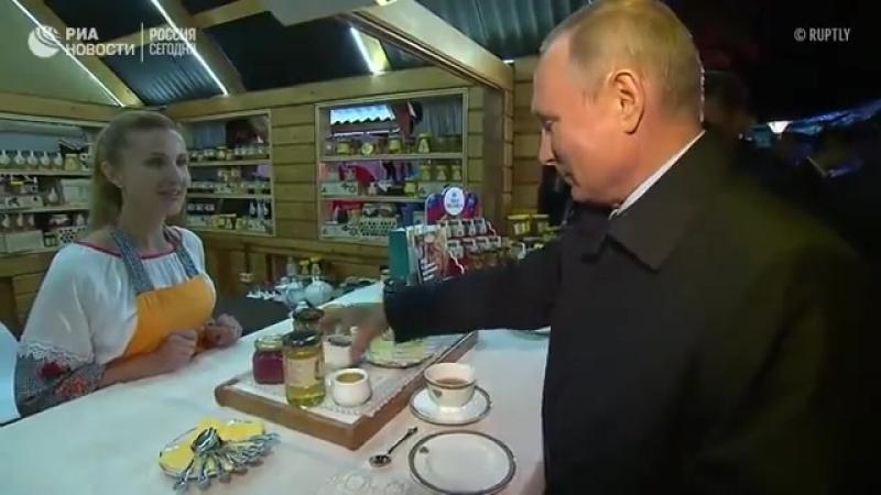 Владимир Путин и Си Цзиньпин. В этот раз пробуют варенье.