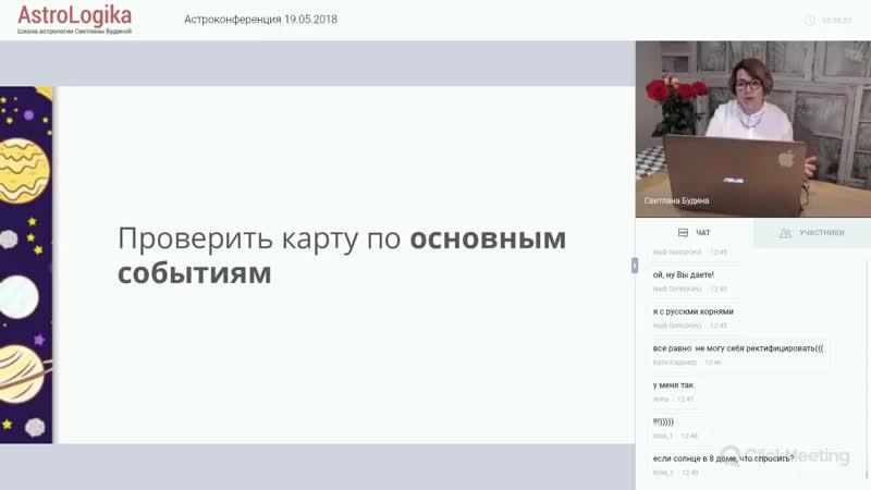 *Светлана Будина Ректификация времени рождения