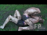german boys - wrestle in the mud...