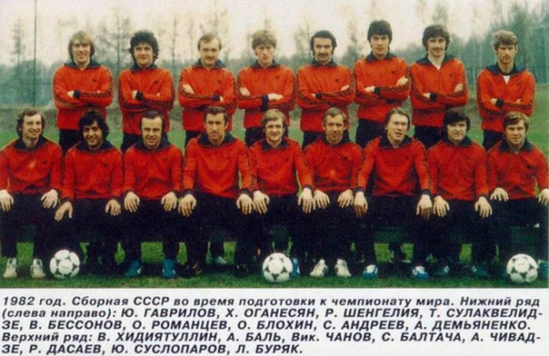 фото сборной ссср по футболу 1988 года