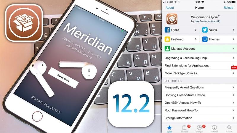 How to Jailbreak iOS 12 2 12 1 4 Cydia Fixed for iOS 12 Meridian 12