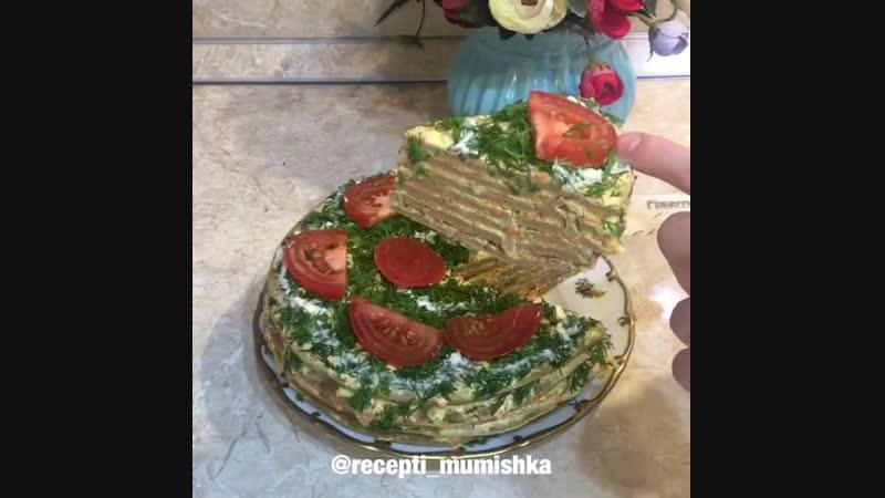 Печеночный торт (ингредиенты указаны в описании видео)