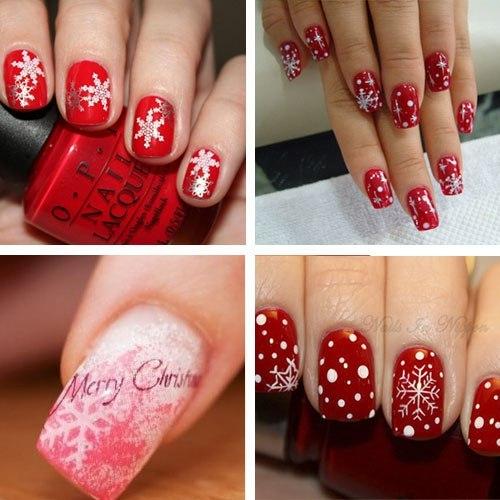 Снежинки на ногти своими руками