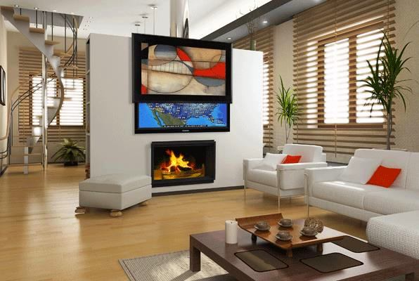 Как и куда спрятать телевизор в гостиной