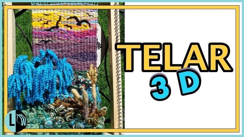 TELAR DECORATIVO Paisaje 3D Paso a Paso Árbol Sauce. DIMENSIONAL WEAVING TUTORIAL. Lana Wolle