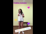 Репетиция Сабины Мустаевой