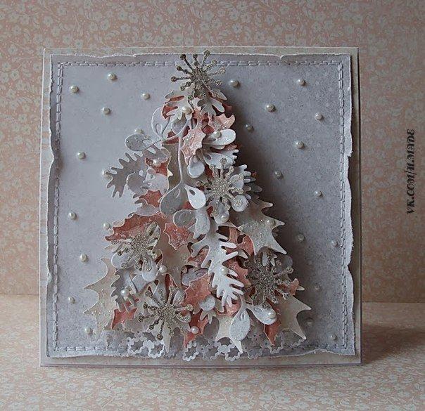 Новогодние открытки фото своими руками