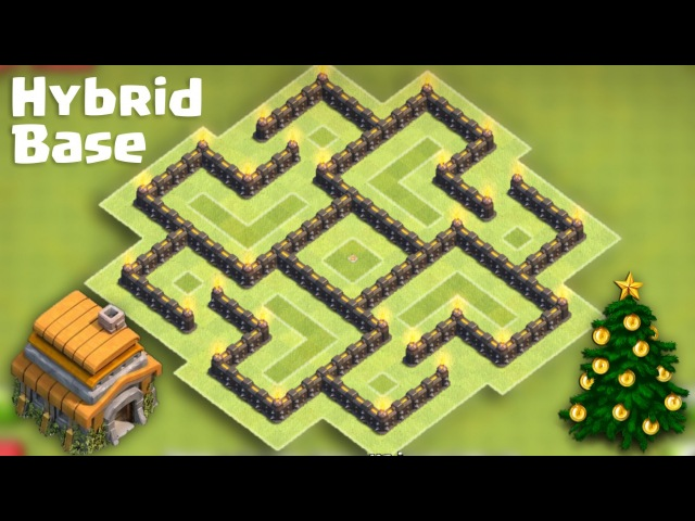 Town Hall 6 (TH6) Best Hybrid Base [Farming after Big Update]