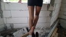 My Legs In Pantyhose, High Heels and Clinging Mini Skirt In An Abandoned House