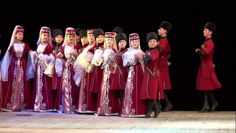 Удж Хэш Старинный кабардинский танец . Детский ансамбль Звездочка2 Нальчик Кабардино-Балкария