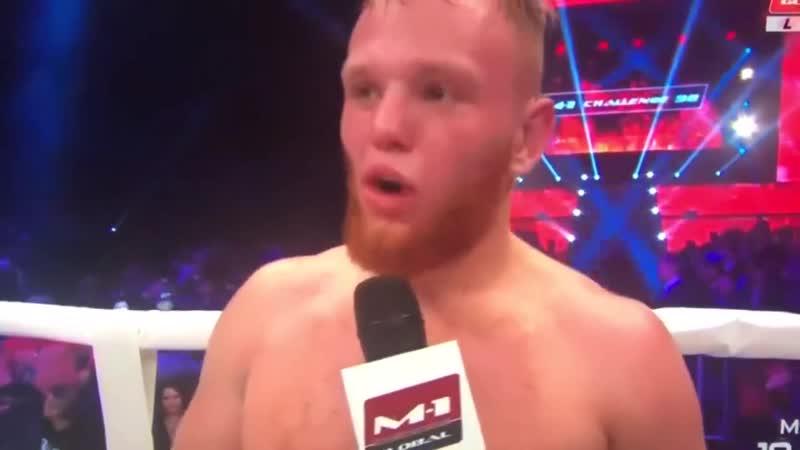 Иван Богданов после победы передаёт привет родному Светогорску