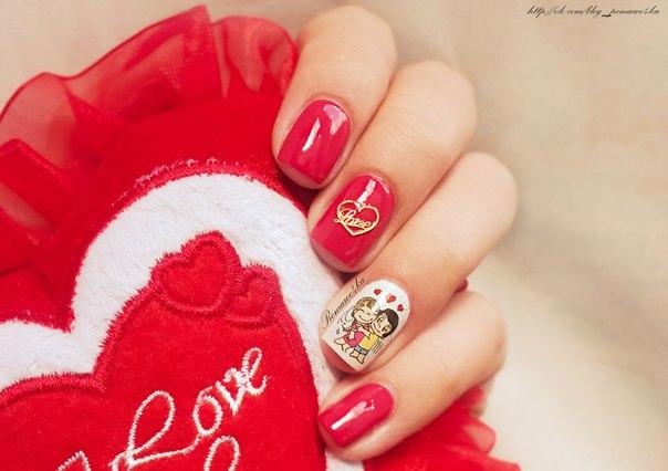 Ногти с love is