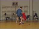 Уроки самбо Подножка на пятке передняя