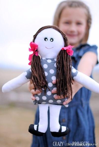 Шьем сами примитивную куклу. Выкройка куклы и несколько фотографий… (10 фото) - картинка