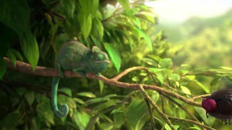 Самый смешной мультфильм 2 Жадный хамелеон Funny cartoon Greedy Chameleon