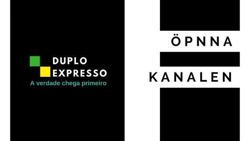 Estreia do Programa Duplo Expresso na TV sueca Öpnna Kanalen Duplo Expresso – A verdade chega primeiro