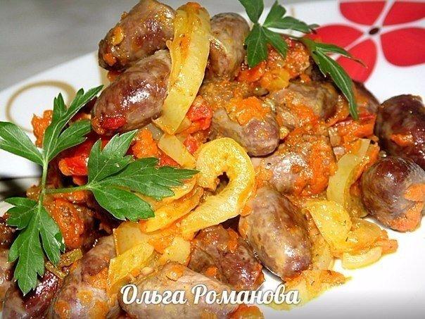 Куриные сердечки с овощами в соевом соусе Автор: