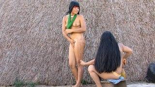 Kalapalo: indigenous tribe in Parque Indígena. remote Xingu river village - Mato Grosso Brazil - MIX
