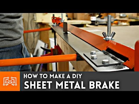 How to make a DIY sheet metal brake