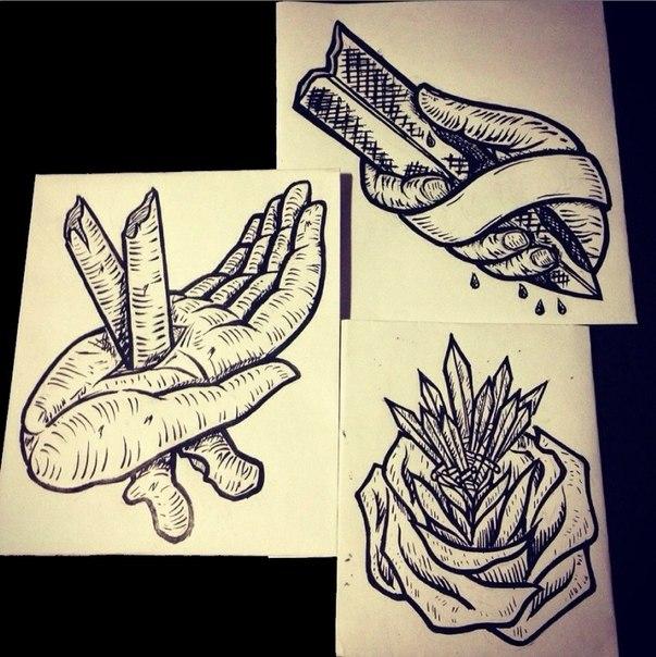 Идеи для домашних татуировок