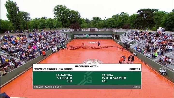 WTA 2018 French Open - 1st Round - Samantha Stosur vs Yanina Wickmayer (29-05-2018)