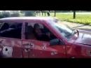 Краматорск.2 июля,2014.После обстрела ВСУ.Осколки прошили авто вместе с водителем.Молодой парень скончался на месте.