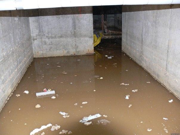 Вода в подвальный и цокольных помещениях