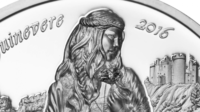 Королева Guinevere – Camelot Series – 2oz Silver Coin $10 Cook Islands 2016