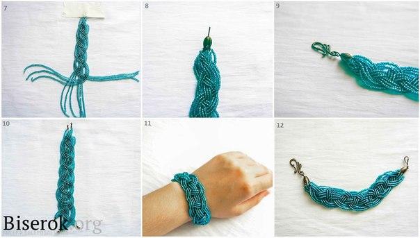 Как сделать из бисера браслет из ниток