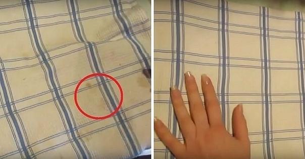 Как отбелить кухонные полотенца при помощи микроволновки. Полезный совет