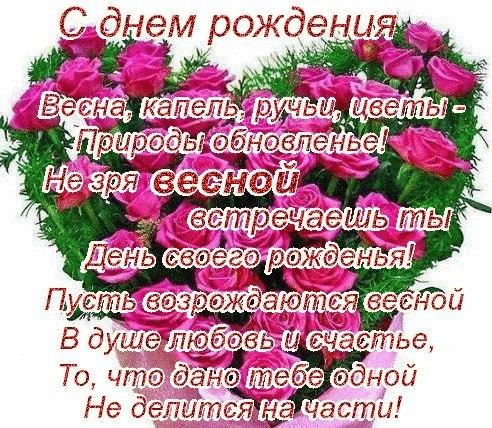 Поздравления с днем рождение кто родился весной