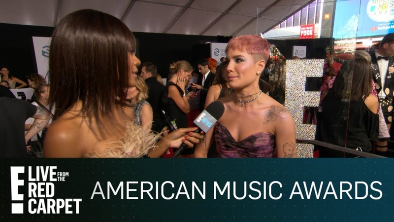 Halsey Dishes on B-Day Italy Trip With G-Eazy at 2018 AMAs | E! Red Carpet Live Events