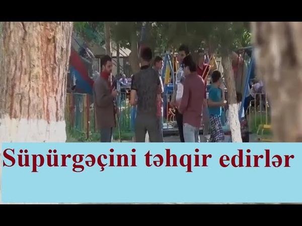 Beyleqanda sosial eksperiment - Supurgecini tehqir edirler | Соц. Эксперимент в Бейлагане