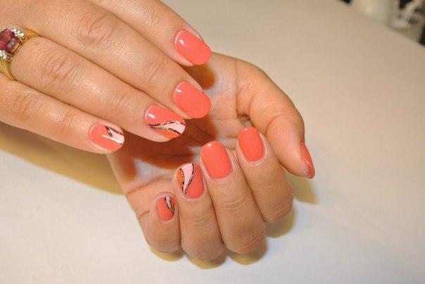 Дизайн гель-лаком на коротких ногтях новинки