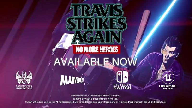 Релизный трейлер Travis Strikes Again No More Heroes