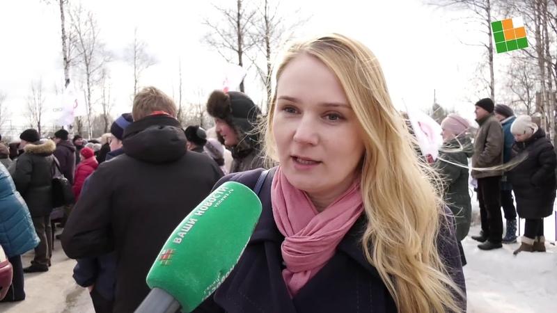 Митинг в Окуловке против оптимизации здравоохранения 5