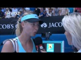 HD Maria Sharapova interview vs Karin Knapp Highlights Australian Open R2 2014