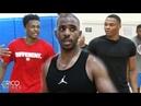 Chris Paul Russell Westbrook Antonio Blakeney at Rico Hines UCLA Run Dante Exum Bobby Portis
