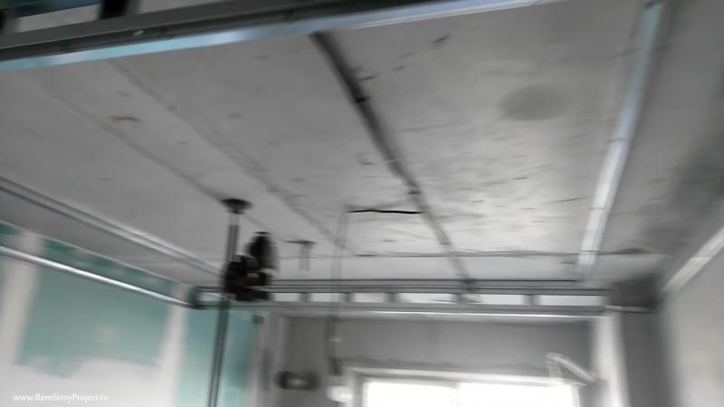 Сборка каркаса потолочного короба Фрагмент покраски квартиры в г Королёв 18 07 2018