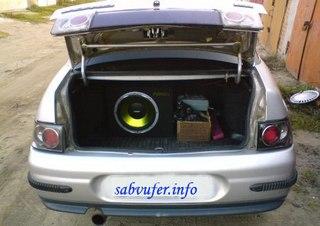 ... варианты установки сабвуфера в ВАЗ 2110