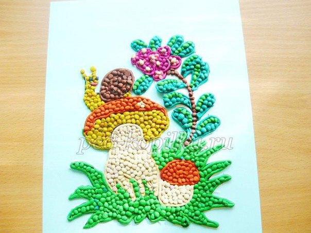 Пластилинография для детей (5 фото)