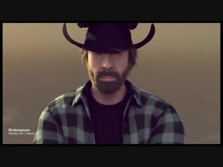 Поздравление с Новым Годом от Chuck Norris (Чак Норрис)