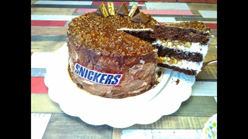 Очень вкусный торт Сникерс