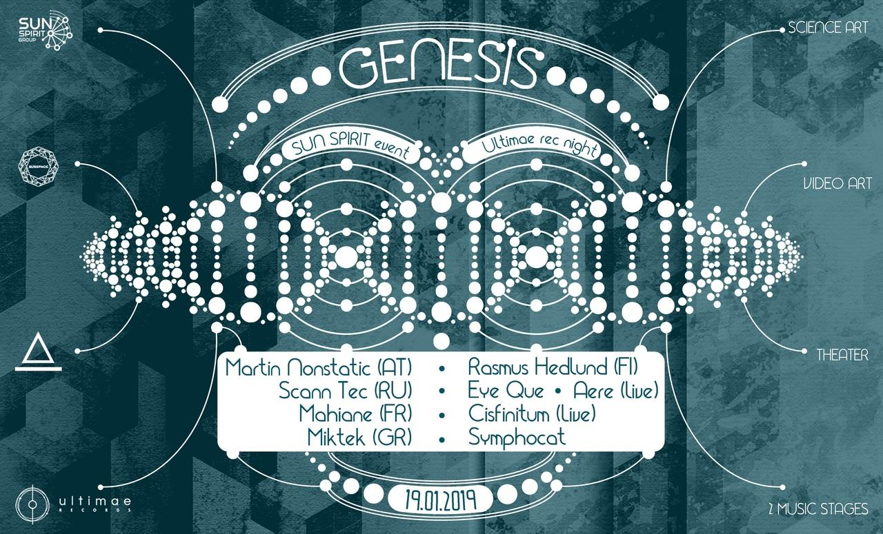 Афиша GENESIS Art-Rave by SunSpirit 19.01.19